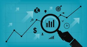 Business analyze and research concept. Flat banner business analyze and research concept Stock Photography
