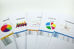 Business analyzing chart in organization Stock Photography