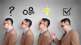 Business analyzing concept. Finding Solution to Solvce Problem stock image