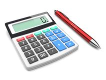 Business analyzing. Pen near calculator. A business planning, analyzing and finance concept Stock Photo