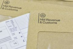 Free Business And Finance Concept. HMRC Letter Stock Photo - 124725970