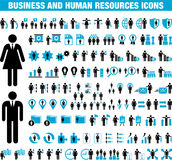 Business And Human Resource Icons Stock Photos