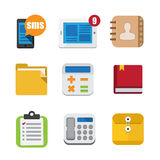 Business And Interface Flat Icons Set Stock Photo