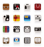 Business And Internet Icons Royalty Free Stock Image