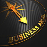 Business Angel - Golden Compass Needle. Royalty Free Stock Photos