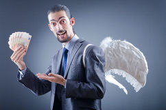 Business angel with money Stock Photography
