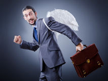 Business angel with money Royalty Free Stock Photography