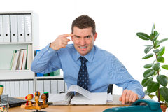 Business is angry Stock Photo