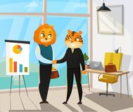 Business Animals Poster Royalty Free Stock Images