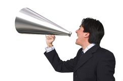Business announcement through loudspeaker 2 Stock Photo