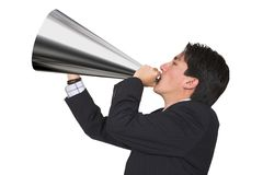 Business announcement through loudspeaker Royalty Free Stock Image