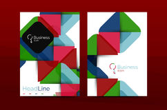 Business annual report cover design template Stock Photos