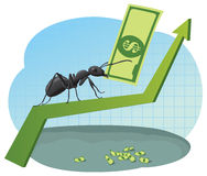 Business ant Royalty Free Stock Photography