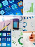 Business app signature document collage images royalty free stock photos