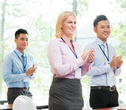 Business applauding Stock Photo