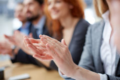 Business applause. Cropped image of a businessperson applauding on the foreground Stock Photography