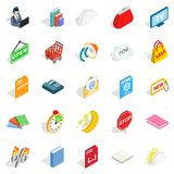 Business applications icons set, isometric style. Business applications icons set. Isometric set of 25 business applications vector icons for web isolated on Royalty Free Stock Photos