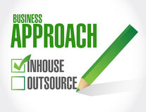 Business approach check list. inhouse illustration. Design over a white background Stock Image