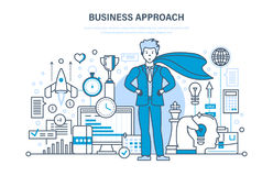 Business approach and project, control and time management, marketing, analysis. Business approach and project, control and time management, success in business Stock Photography