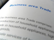 Business area. Financial report close up Royalty Free Stock Photos