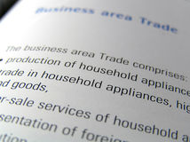 Business area. Business report close up Stock Images
