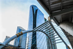 Business area , architecture style in  city  bangkok Royalty Free Stock Photo