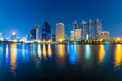 Business area buildings of Bangkok, Thailand Stock Photo