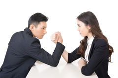 Business arm wrestling Stock Images