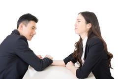 Business arm wrestling Stock Image