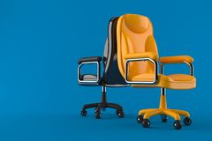 Business armchairs. On blue background Royalty Free Stock Photography