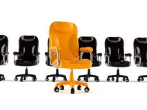 Business armchairs. On white background Royalty Free Stock Images
