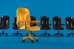 Business armchairs. Isolated on blue background. 3d illustration Royalty Free Stock Images