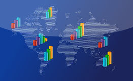 Business around the world. Background illustration Royalty Free Stock Photo