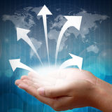 Business arrow Stock Photo