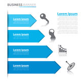 Business arrow banner infographics. Vector illustration. Can be used for layout, diagram, number options, web design, infographics Stock Photo