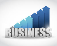Business arrow blue graph. illustration design Royalty Free Stock Images