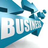 Business arrow blue. Image with hi-res rendered artwork that could be used for any graphic design Stock Images