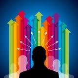 Business arrow concept with teamwork Stock Photos