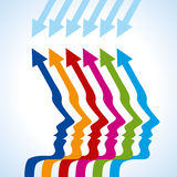 Business arrow concept with teamwork Stock Images