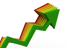 Business Arrow Graph Stock Photography