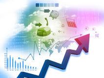 Business arrow Graph Royalty Free Stock Photo