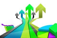 Business arrow Graph Stock Photo
