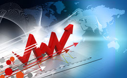 Business Arrow Graph Royalty Free Stock Photos