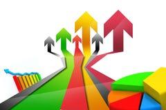 Business arrow Graph Stock Image
