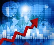 Business arrow graph Stock Images