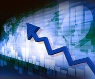 Business arrow graph Stock Photos