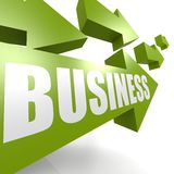 Business arrow green Stock Images
