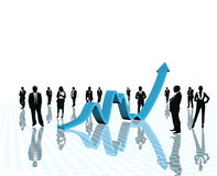 Business arrow growth. Stock Images