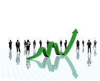 Business arrow growth. Royalty Free Stock Photos