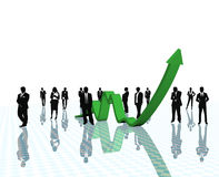 Business arrow growth. Stock Photos
